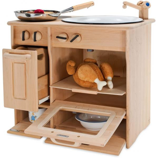 Drewart Handcrafted Timber Kitchen - Earth Toys - 2