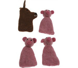 Three little pigs finger puppet Set - Earth Toys