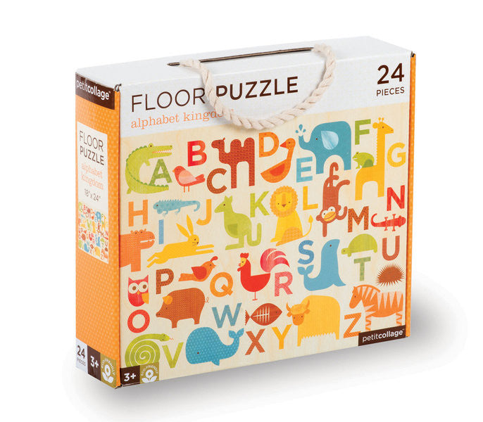 Petit Collage - Floor Puzzle - Alphabet Kingdom - Earth Toys - 1