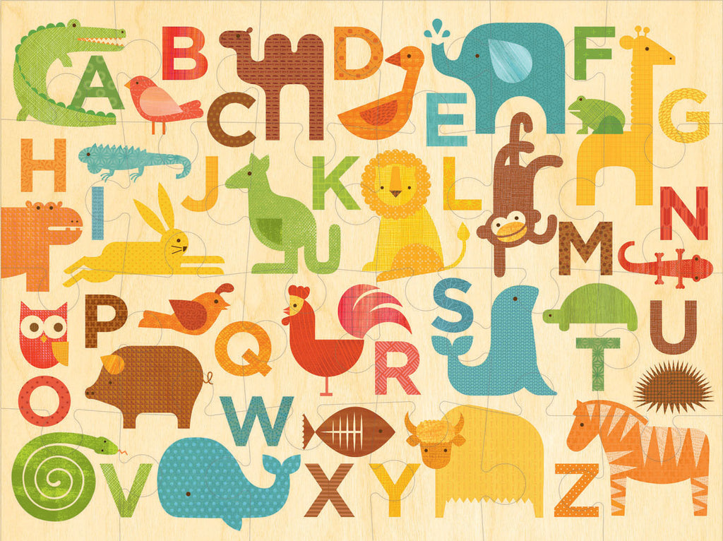 Petit Collage - Floor Puzzle - Alphabet Kingdom - Earth Toys - 2