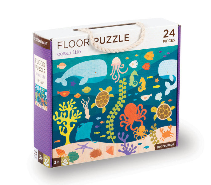 Petit Collage - Floor Puzzle - Ocean Life - Earth Toys - 1