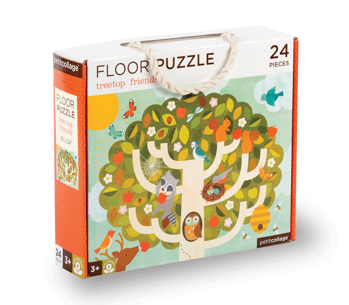 Petit Collage - Floor Puzzle - Treetop - Earth Toys - 1