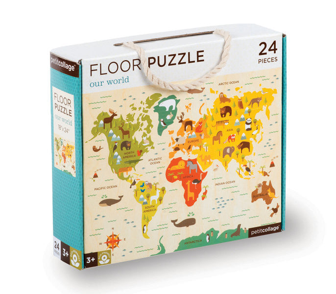 Petit Collage - Floor Puzzle - Our World - Earth Toys - 1