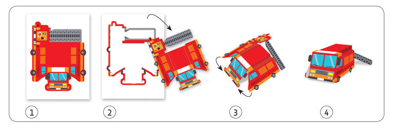 Trucks Paper Toys - Earth Toys - 2