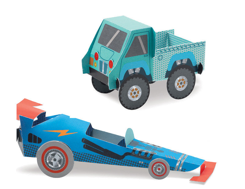 Trucks Paper Toys - Earth Toys - 3