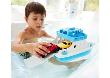 Green Toys - Ferry Boat w/ 2 Mini Cars - Earth Toys - 2