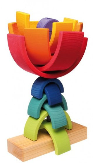 Grimm's Double Rainbow Stacking Tower - Earth Toys - 3