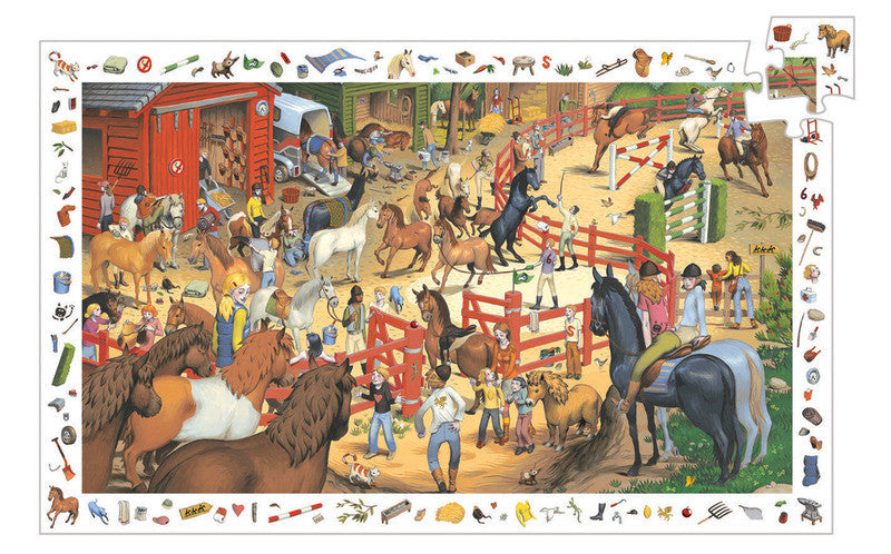 Puzzle Observation - Horse Riding 200 pc Puzzle - Earth Toys