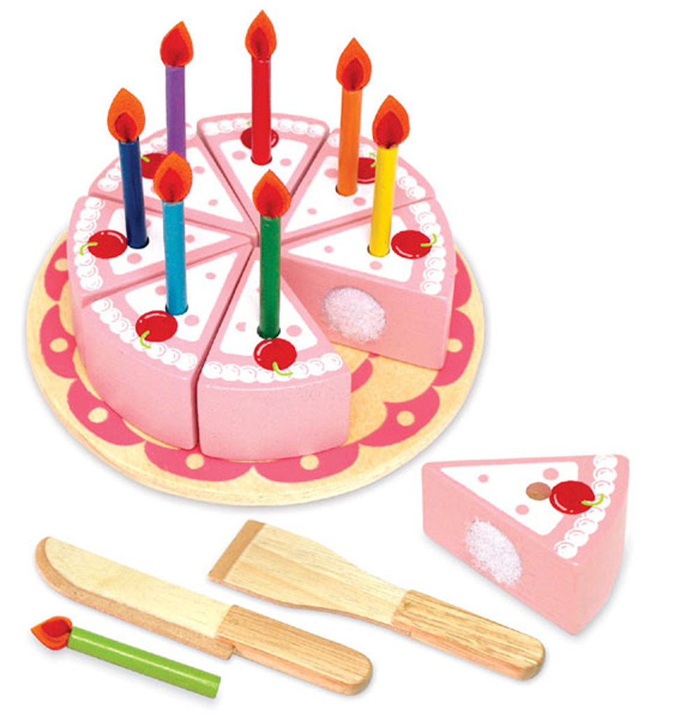 Wooden Party Cake - Strawberry - Earth Toys