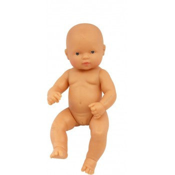Miniland Anatomically Correct Baby Doll Caucasian Girl, 32 cm - Earth Toys