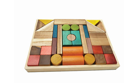 Natural Colour Wooden  Block Set