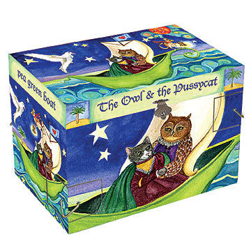 Owl & the Pussycat Music Box - Earth Toys - 3