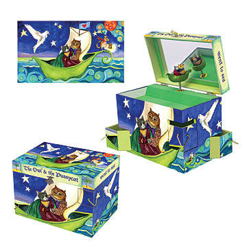 Owl & the Pussycat Music Box - Earth Toys - 4