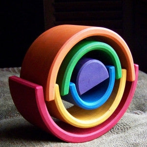 Wooden Stacking Rainbow - Earth Toys - 8