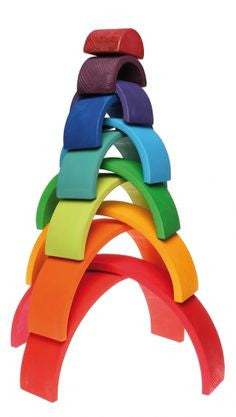 Wooden Stacking Rainbow - Earth Toys - 6