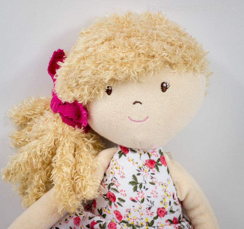 Rosemary with Beige Hair and Flower Print Dress - Earth Toys - 2