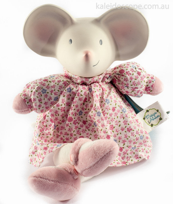 Rubber Meiya the Mouse in Pink - Earth Toys - 3