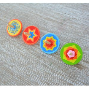 Wooden Spinning Top - Earth Toys - 2