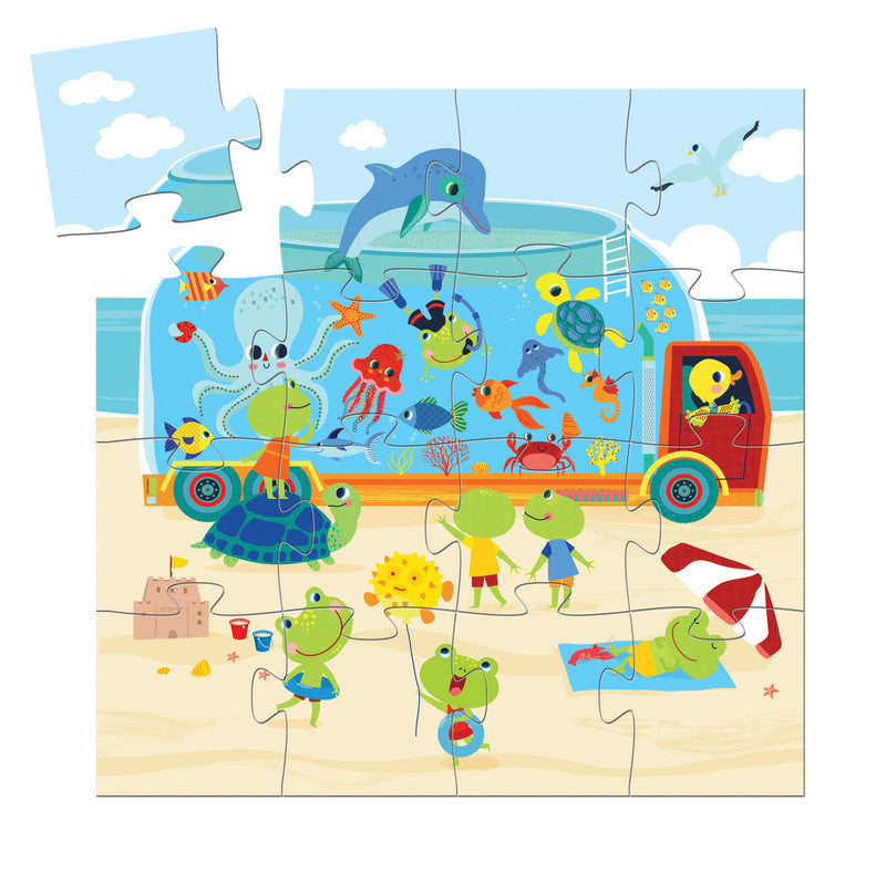 The Aquarium - 16pc Silhouette Puzzle - Earth Toys - 2