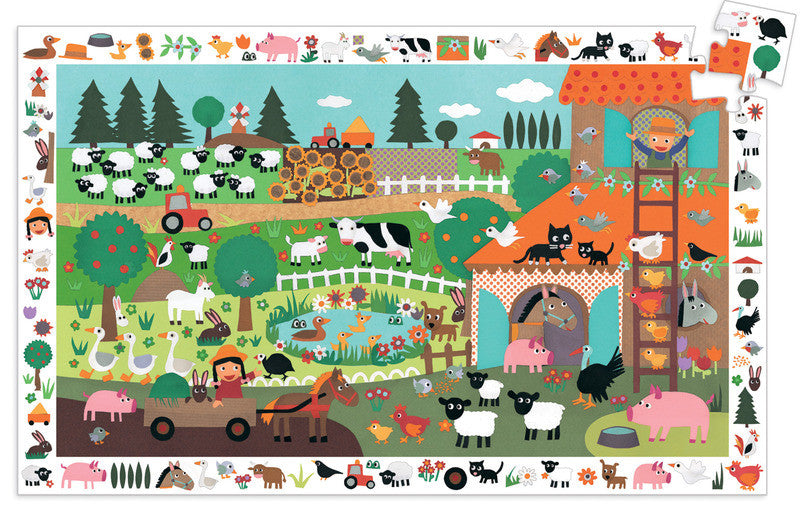 Puzzle Observation - Farm 35pc Puzzle - Earth Toys