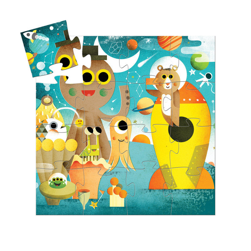 The Rocket - 16pc Silhouette Puzzle - Earth Toys - 2