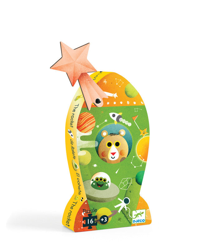 The Rocket - 16pc Silhouette Puzzle - Earth Toys - 1