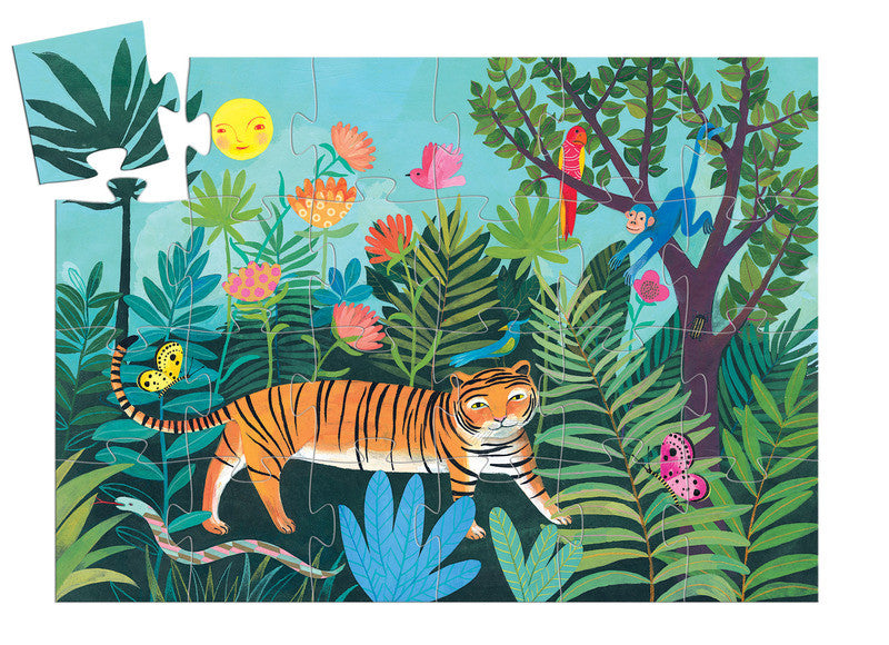 The Tiger's Walk - 24pc Silhouette Puzzle - Earth Toys - 2