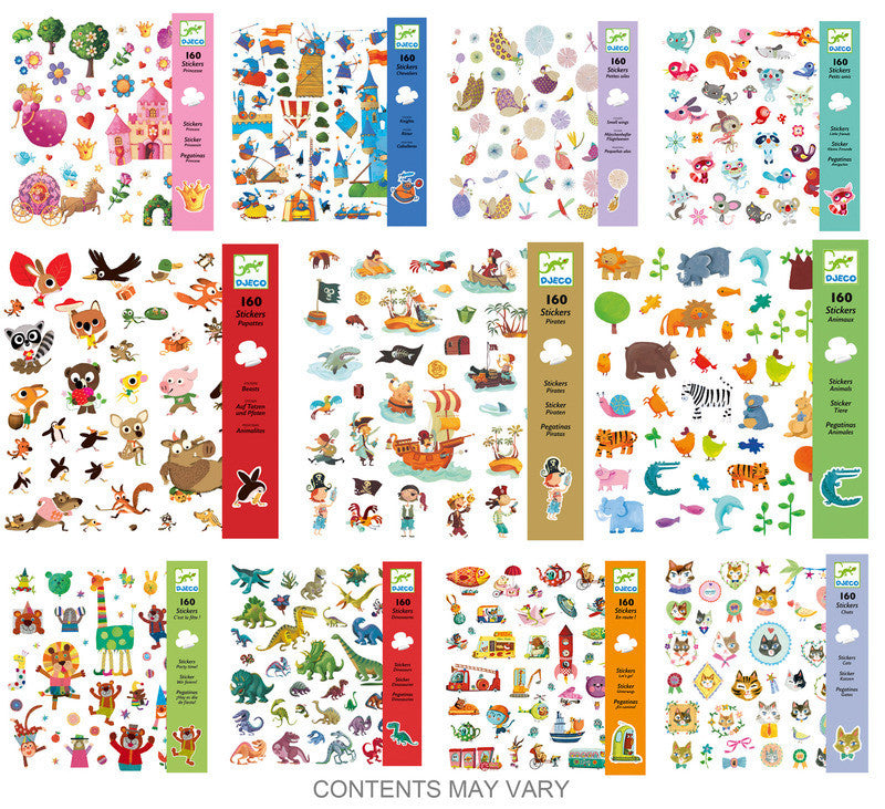 Djeco Sticker Packs - Earth Toys