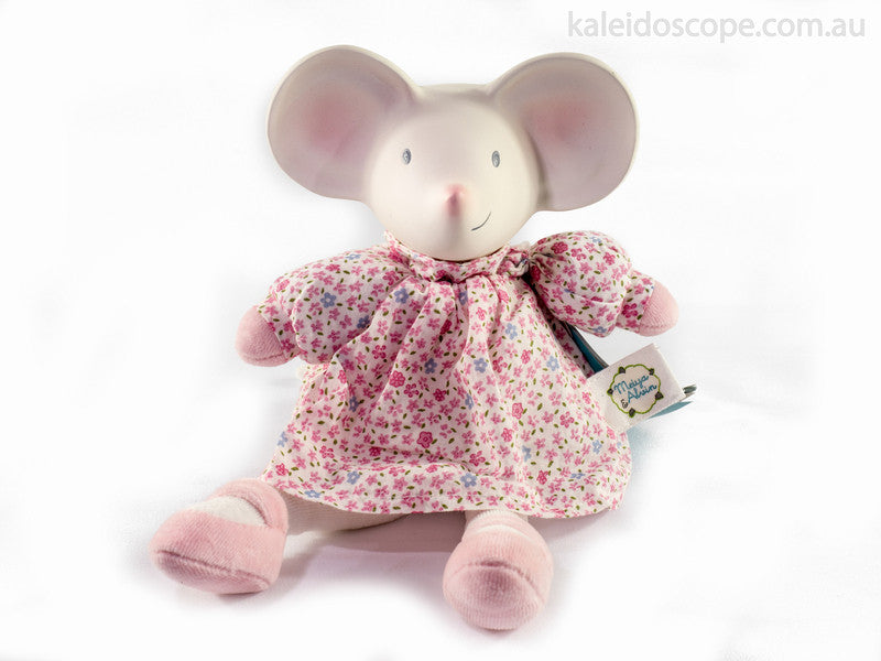 Rubber Meiya the Mouse in Pink - Earth Toys - 1