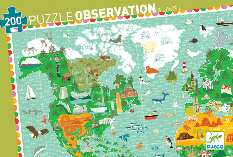 Puzzle Observation - Monument of World 200pc Puzzle - Earth Toys - 1
