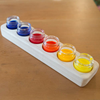 Wooden Holder with 6 Glass Painting Jars