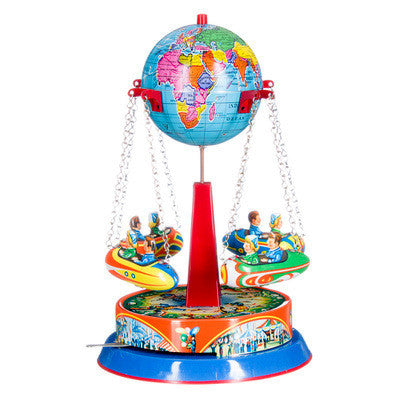 Tin Carousel - Spinning Globe - Earth Toys