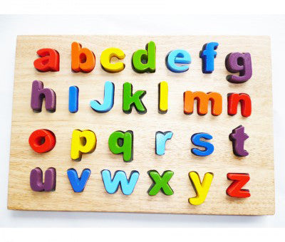 Quins Alphabet Lower Case Puzzle - Earth Toys