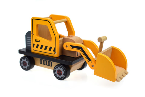 Yellow Wooden Bulldozer