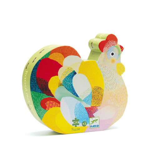 Raoul The Hen - 24pc Silhouette Puzzle