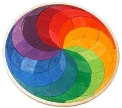 Grimm's mini Colour Circle Spiral - Earth Toys - 1