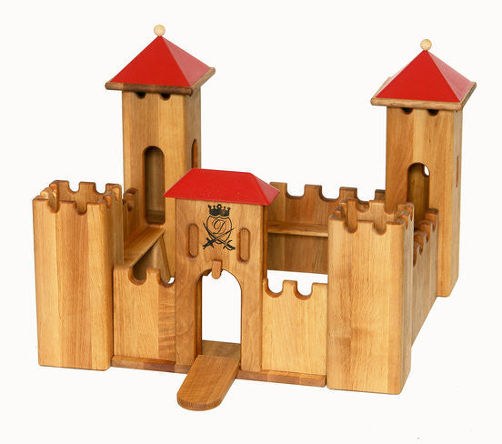 Drewart Wooden Castle small - Earth Toys - 1