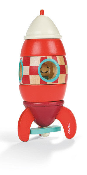 Janod - Magnetic Rocket Ship - Earth Toys - 1
