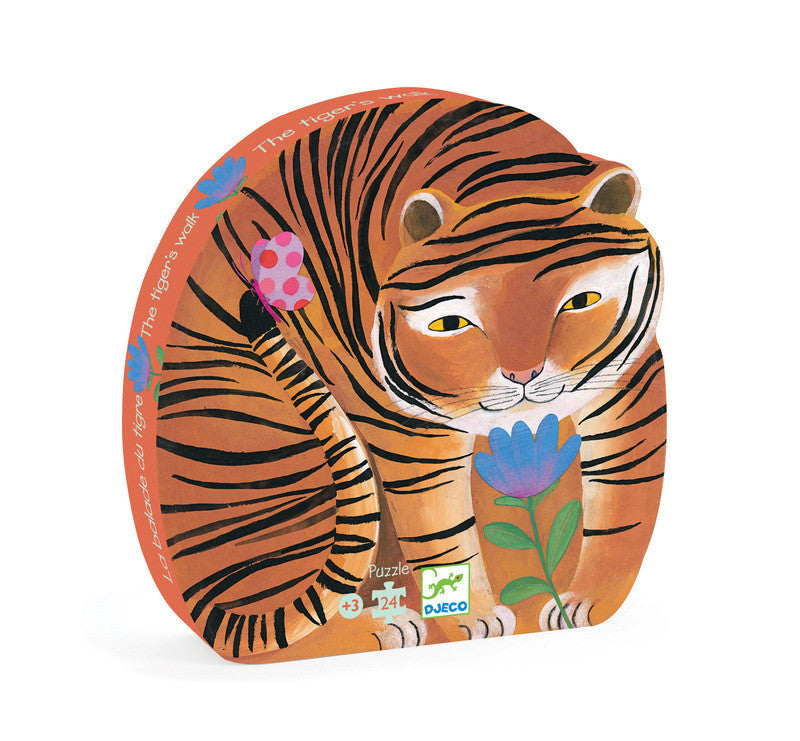 The Tiger's Walk - 24pc Silhouette Puzzle - Earth Toys - 1