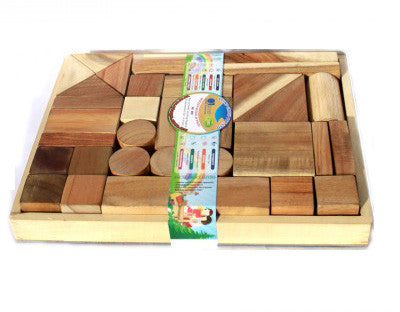 Natural Wooden Block Set - Earth Toys
