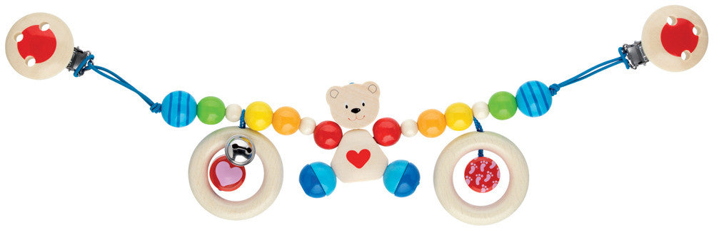 Heimess - Pram String Bear with Heart - Earth Toys