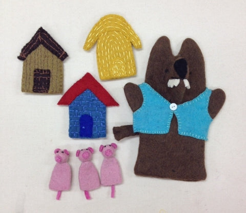 3 Little Pigs Felts Puppet Set