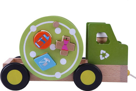 Pull Along Recycling Truck Shape Sorter