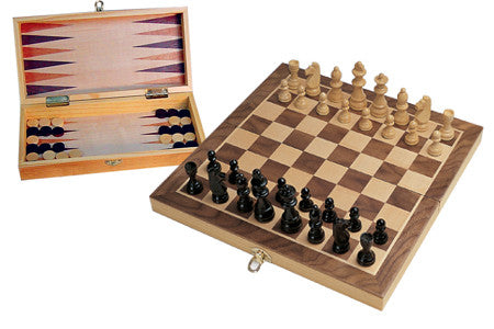 Chess and Backgammon Set - Earth Toys