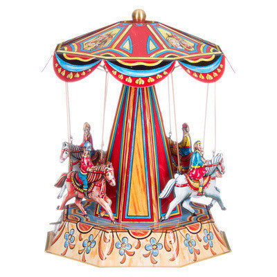 Tin Carousel - Antique Horses - Earth Toys