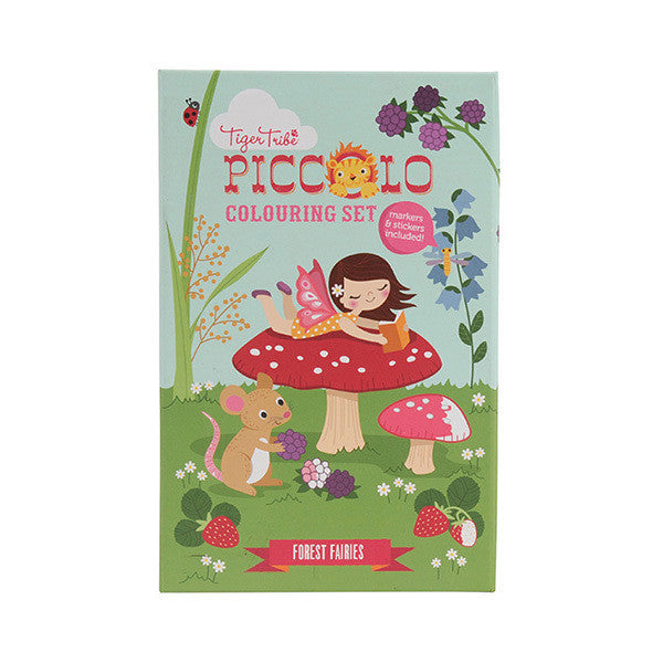 Piccolo Colouring Set - Forest Fairies - Earth Toys - 1