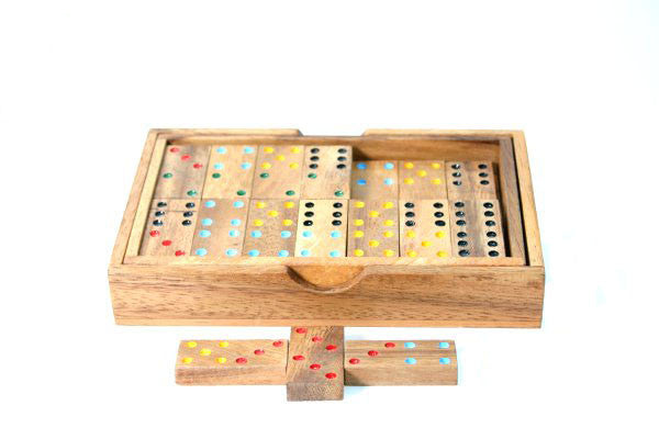 Wooden Domino's double 6 - Earth Toys