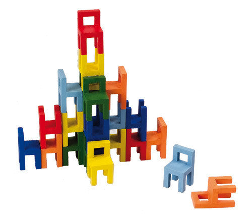 GOKI - Stacking Chairs Game - Earth Toys