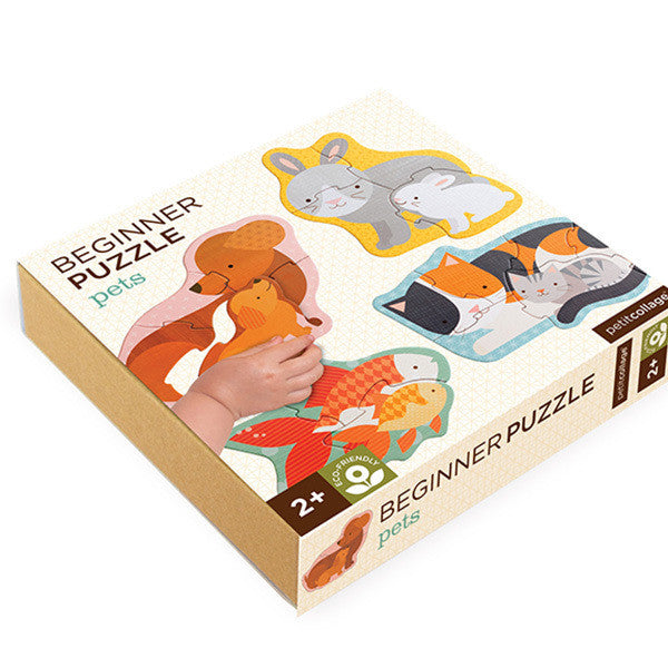 Petit Collage - Beginner Puzzle - Pets - Earth Toys - 1