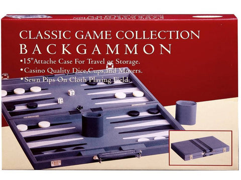 "BACKGAMMON 15"" VINYL, STITCHED"